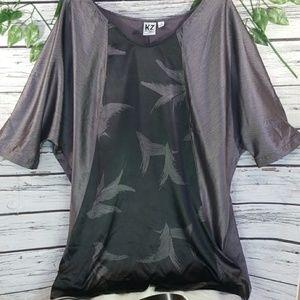 NWOT Karen Zambos print Dolman sleeve tunic sz 1X